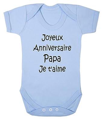 Click My Clobber Bébé Body Joyeux Anniversaire Papa