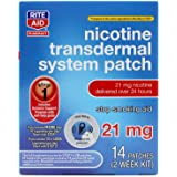 Rite Aid Nicotine Patches - Step 1 | 21 mg - 14 Count | Quit Smoking Patches | Smoking Aid to Help Quit Smoking | Nicotine Tr