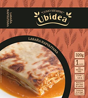 Lasaña Napolitana - Ubidea - 3 platos