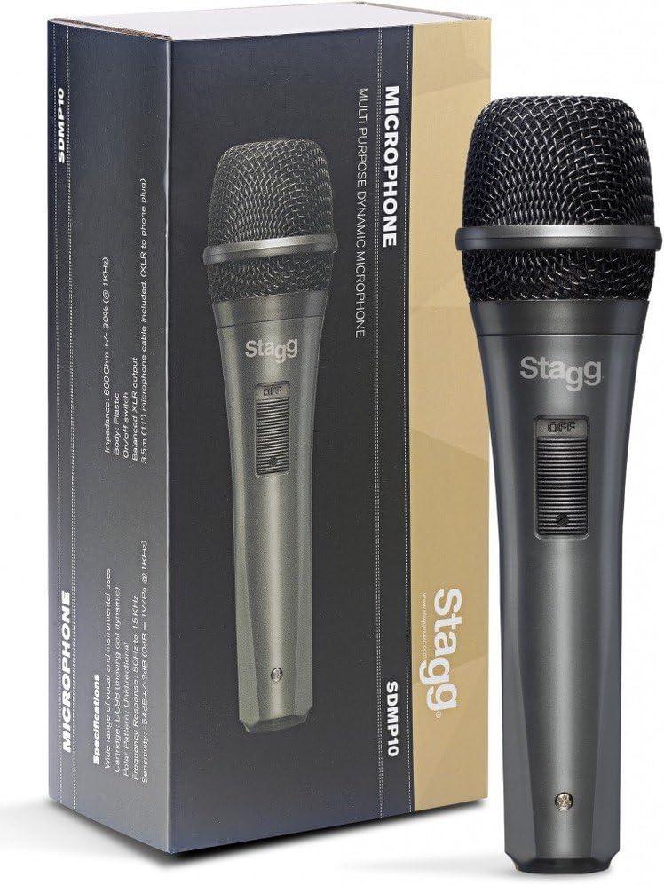 Stagg SDM60 Professionelles dynamisches Mikrofon Nierencharakteristik mit DC164