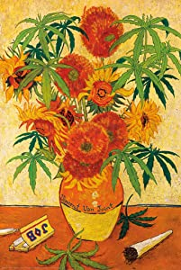 Studio B Vincent Van Joint Marijuana Plant Pot Weed Funny Poster 24x36 Inch