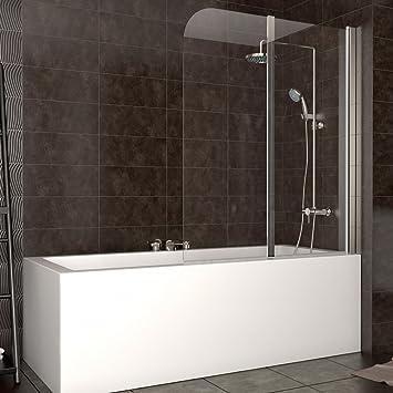 cerramiento bañera ducha cristal plegable mampara tabique dercha: Amazon.es: Hogar