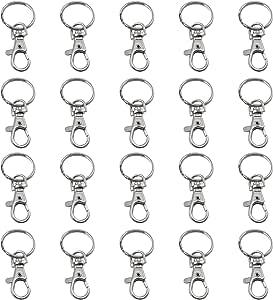 TRIXES 20 X Small Lobster Detachable Swivel Clasps for Key Split Ring Blanks