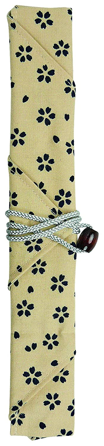 Picnics School Camping Sunlife Chopsticks Portable Cotton Wrap Carrying Bag for Travel Office Brown