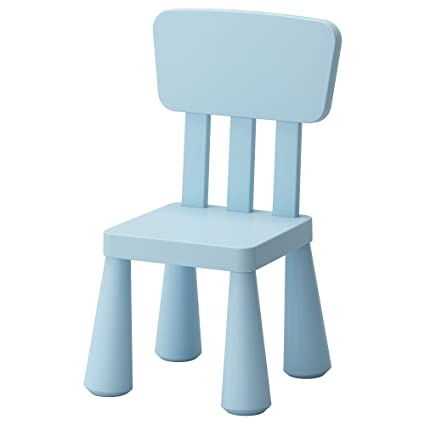 Amazon.com: IKEA MAMMUT Kids Silla Infantil Azul pálido ...