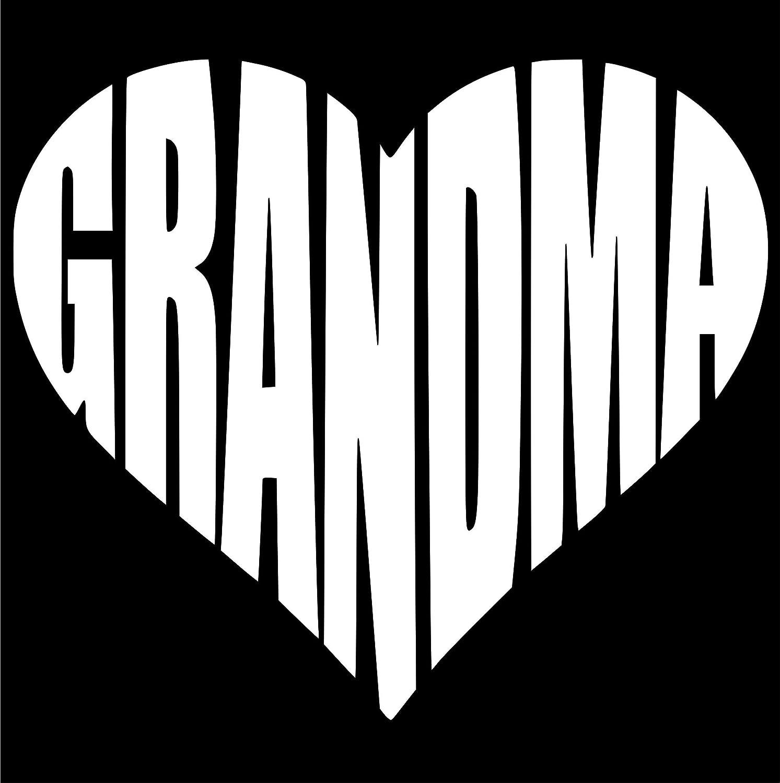 おばあちゃんハートデカール Cute/ステッカー5.0 (色ホワイト) Cute for Windows車、トラック、ノートパソコン (色ホワイト)、より B077D11V99。 B077D11V99, YANCHARS ヤンチャーズ:941ca818 --- harrow-unison.org.uk