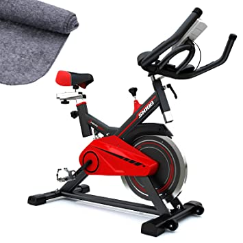 Sportstech Bicicleta estática para Interior SX100 con Volante de inercia 13kg, reposabrazos Acolchados, Asiento cómodo, pulsometro, Sistema de ...