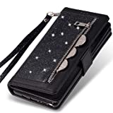Kudex Galaxy Note 8 Wallet Case for Women,Bling