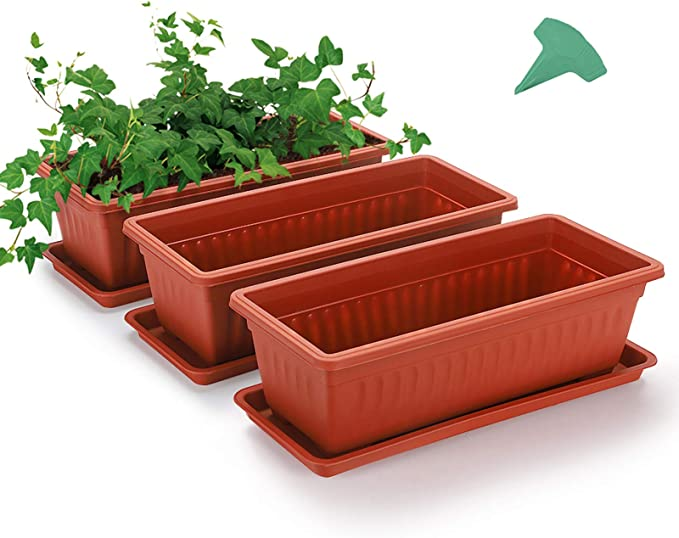 3 Packs 15 Inches Terracotta Vegetable Planters