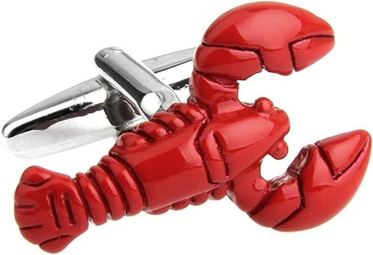 Lobster Cufflink Seafood Creature Sea Marine Life Red Fish