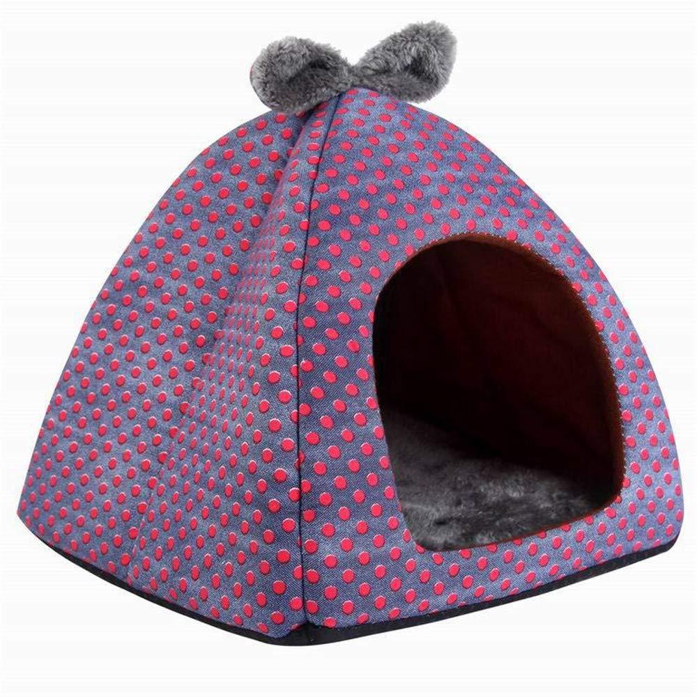 47171148dbe9 Purple 40 cm 40 39 cmJFRI dog bed Pet nest removable and washable ...