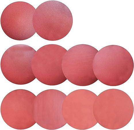 Self Stick 5 Each of 120 180 240 320 400 600 800 1000 1500 2000 Sackorange 50 PCS 8-Inch NO-Hole PSA Aluminum Oxide Sanding Disc