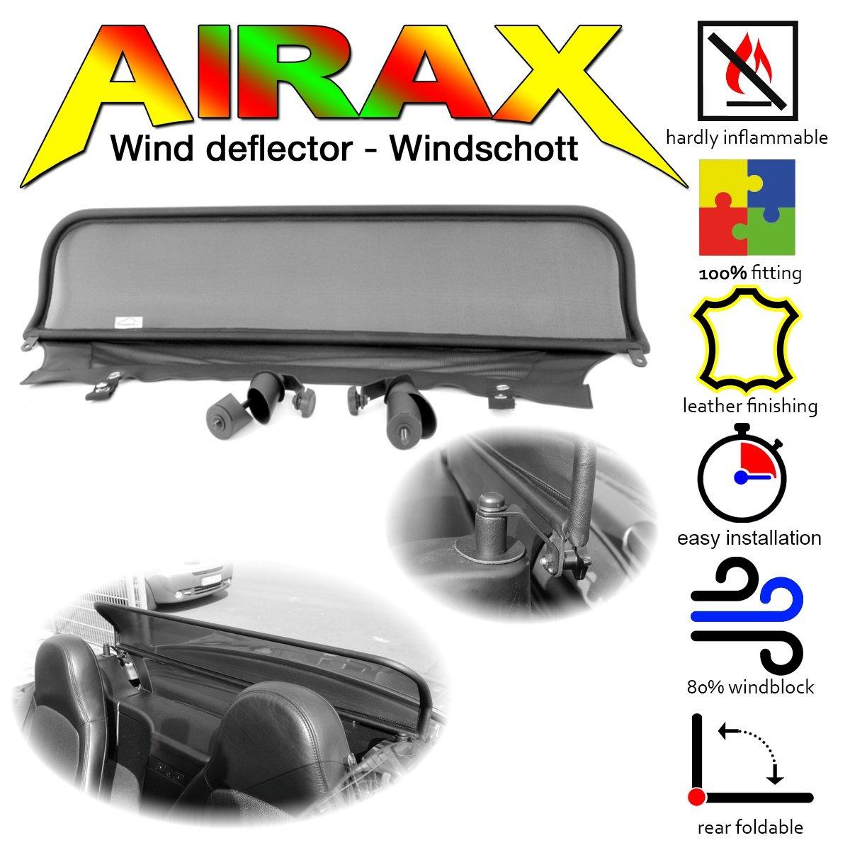 airax coupe-vent pour BMW Z3 Roadster sans arceau Chrom Design