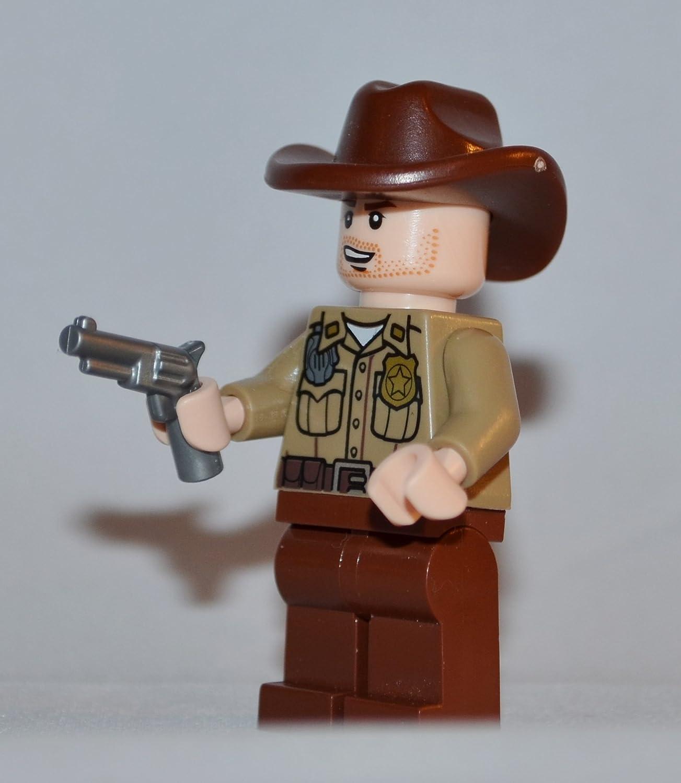Lego Rick Grimes Figure (Custom)- The Walking Dead