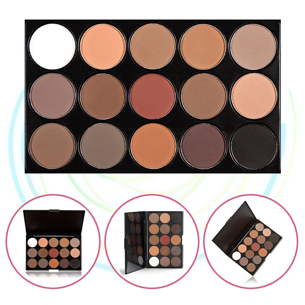 15 Color Eyeshadow Palette, Bold and Bright Collection, Vivid, KRABICE Eyeshadow Eye Shadow Palette Makeup Kit Set(15 Eyeshadow Palette) #3