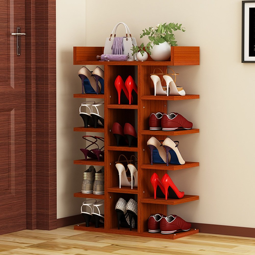 NAN liang 靴ラックシンプルモダン多層木製棚高容量家庭用靴ラック (色 : 1, サイズ さいず : 63.2*27*97.6cm) B07MKVWV75