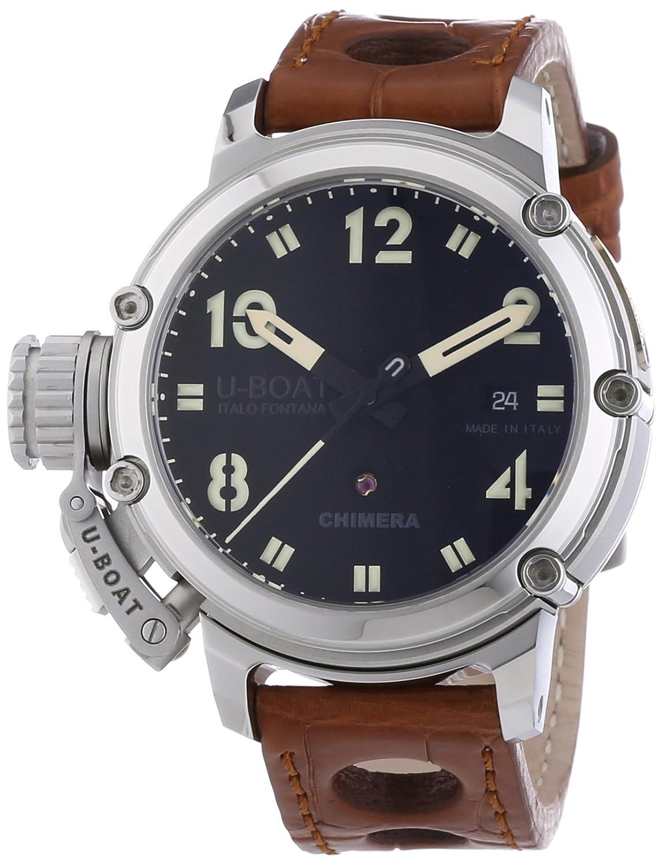 U-Boat 7226 - Reloj de automático para hombre, con correa de otros materiales, color marrón: Amazon.es: Relojes