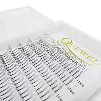 Russian Volume Premad Fans Eyelashes Extension 3D 4D Thickness 0 07/0 10  Curl C/D Length
