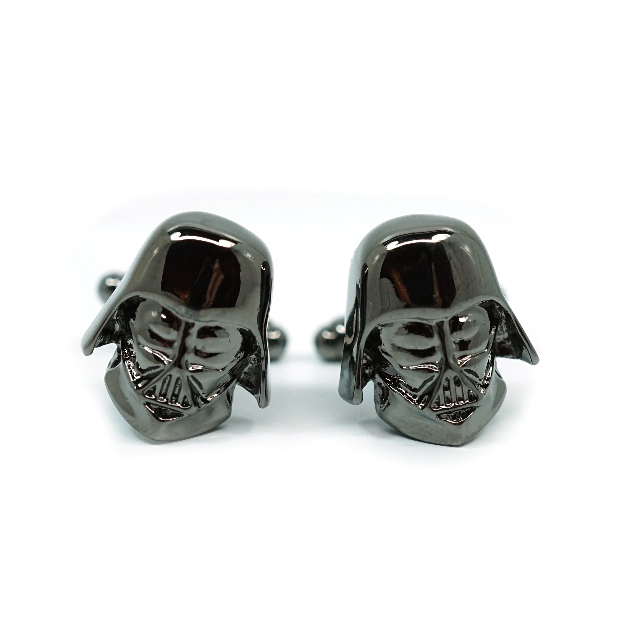Teri's Boutique Men's Jewelry Star Wars Darth Vader Head Dark Gray Gunmetal Cufflinks Pair w/ Gift Box