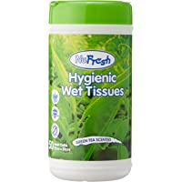 NuFresh Hygienic Wet Tissues, 50ct ,Green Tea