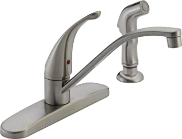 Peerless P188500lf Ss 1 Handle Side Spray Kitchen Faucet Stainless