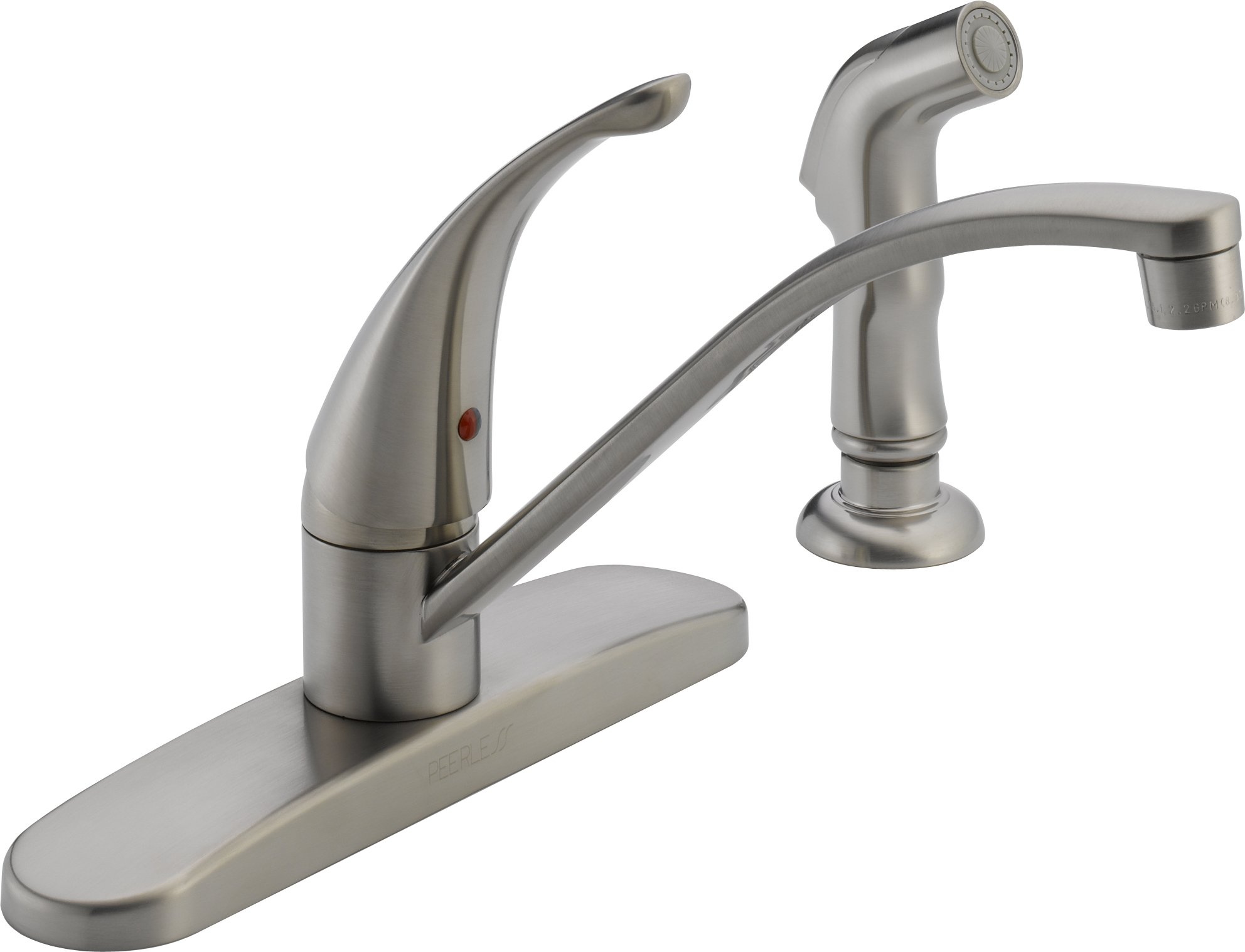 Peerless P188500LF-SS 1 Handle Side Spray Kitchen Faucet, Stainless