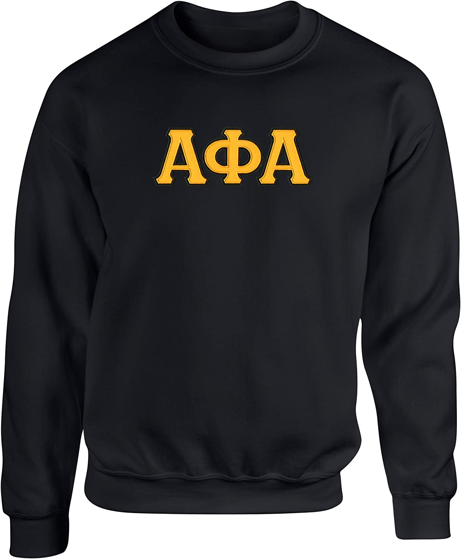 Fashion Greek Alpha Phi Alpha Twill Letter Crewneck Sweatshirt