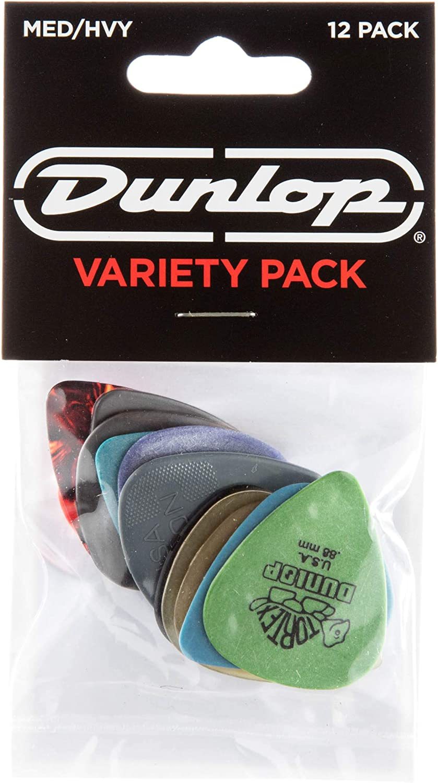 Jim Dunlop pvp102Variedad Medio/pesado reproductor de púa de guitarra (Pack de 12)