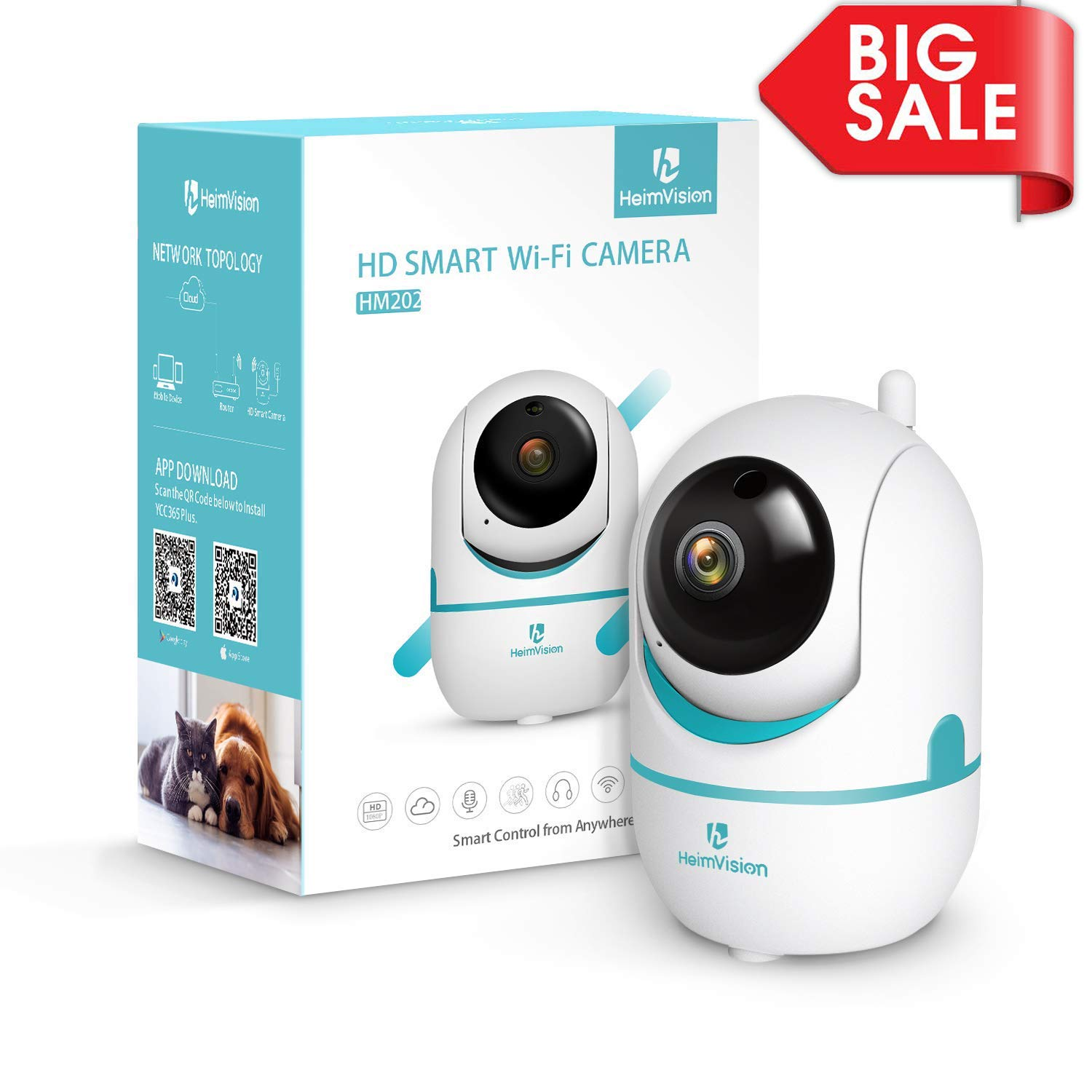 Baby Monitors Reasonable 1080p Hd Network Camera Two-way Audio Wireless Network Camera Night Vision Motion Detection Camera Robot Pet Baby Monitor Comfortable Feel