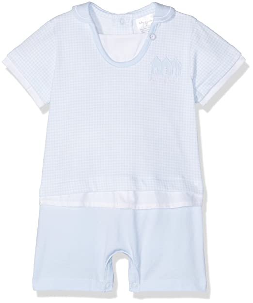 Tutto Piccolo Pompidou, Pelele para Bebés, Azul (Celeste), 80 (Tamaño