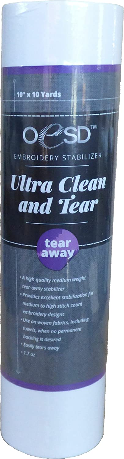 Ultra Clean & Tear - Tear Away Embroidery Stabilizer 10