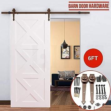 Kit de puerta corredera Cozime fácil de instalar de acero ...