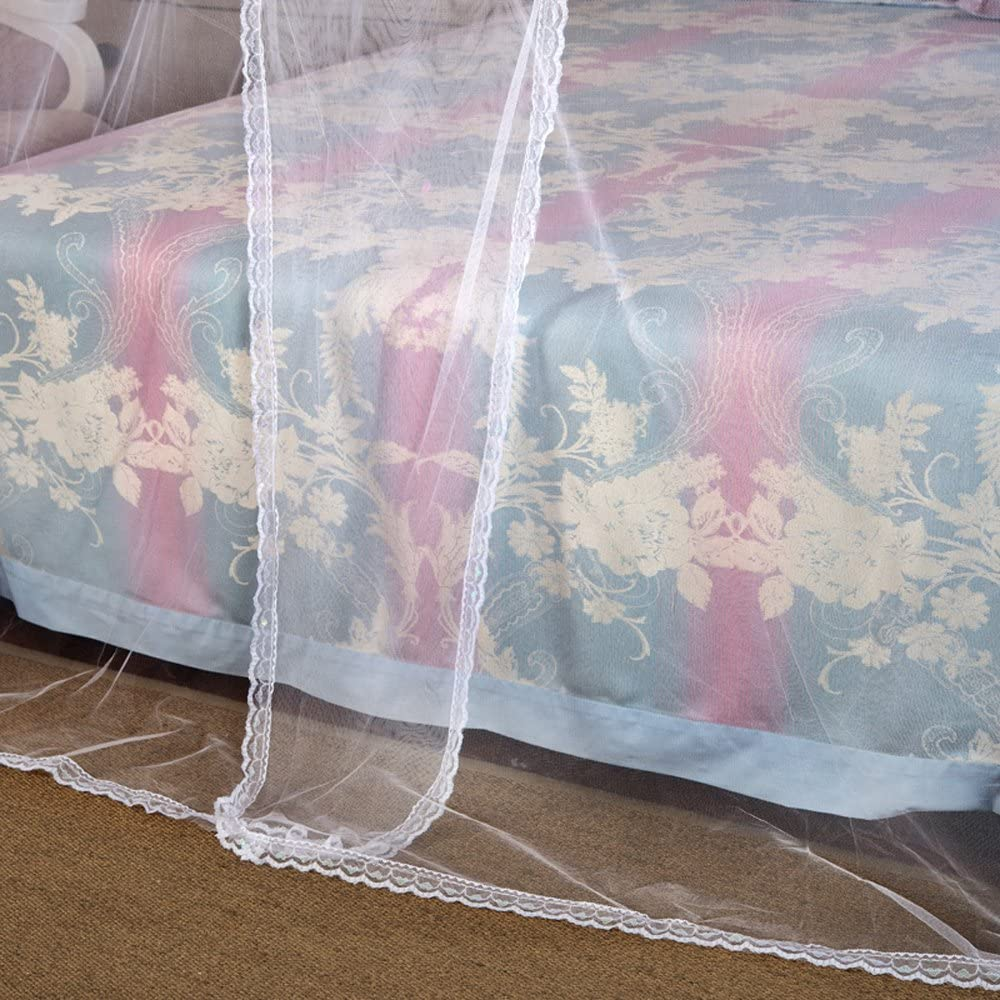 Nattey 4 Corners Princess Bed Curtain Canopy Canopies For Girls Boys Adults Bed Gift (Twin, White): Home & Kitchen