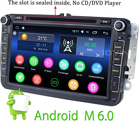 Joying 8 Zoll Car Radio Android 6 0 Os 2gb Ram Wifi Dab Usb Bluetooth Double Din Autoradio Stereo Audio For Vw Volkswagen Jetta Golf Tiguan Amarok Cc Passat Beetle Polo Sharan Eos Skoda Navigation