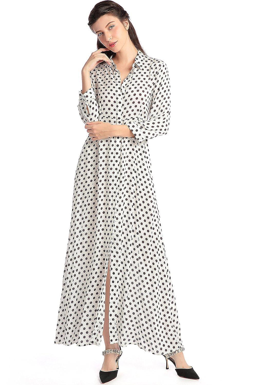 Amazon.com  Boho Style Long Sleeve Maxi Dress Women Shirt Dresses Floral  Print Vintage Muslim Robe Kaftan  Clothing 3e3def2dc