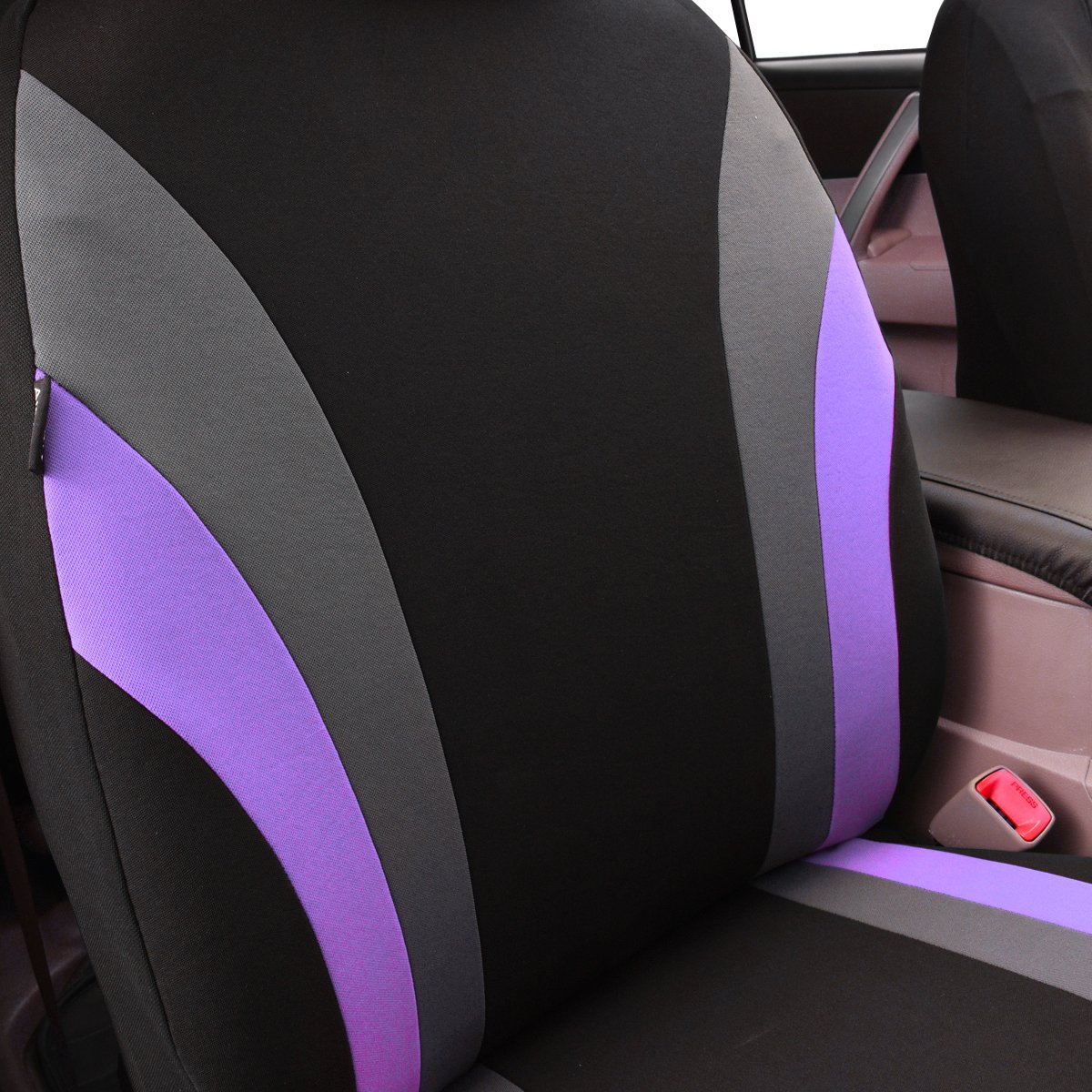 CAR PASS Line Rider 11PCS Universal Fit Car Seat Cover 100/% Breathable With 5mm Composite Sponge Inside,Airbag Compatible Black with rose pink NEW ARRIVAL