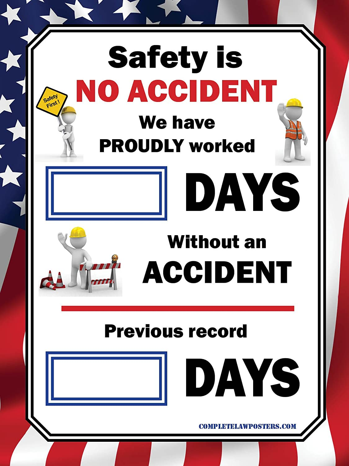 Amazon.com : Days Without An Accident Poster : Office Products