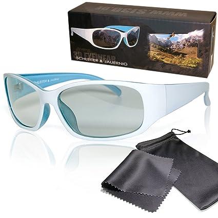 Gafas 3D pasivo para RealD - Blanco / Azul - Alta calidad - Polarizadas circular -