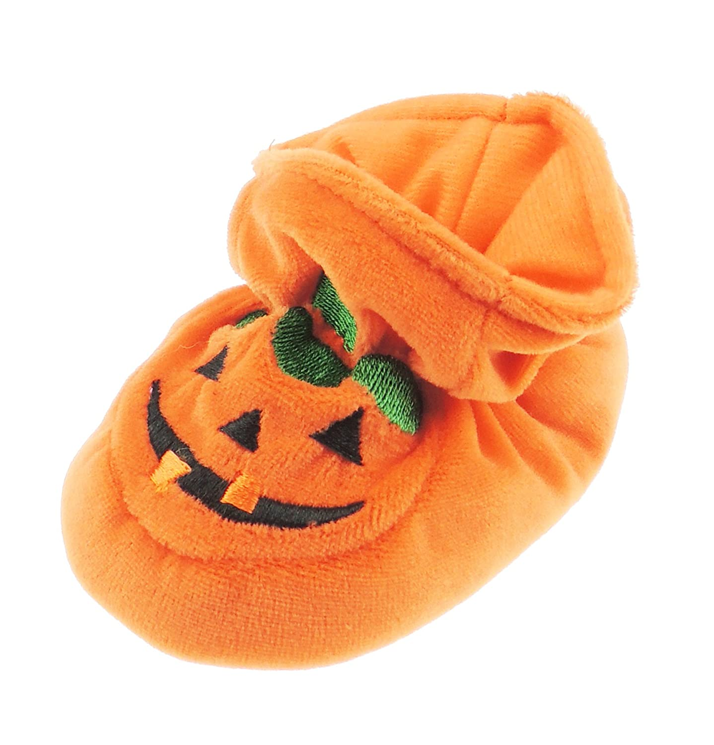 Super Cute Baby Boys Girls Pram Padders Booties Slippers Orange Halloween Thanksgiving Scary Pumpkin 13 6-12 Months Glamour Girlz