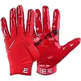 Kids EliteTek RG-14 Super Tight Fitting Football Gloves - Youth Sizes - Easy Slip On Design No Wrist Strap