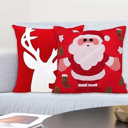 Navidad decoración para el hogar funda de almohada 3d toalla bordado Funda de almohada de Europa