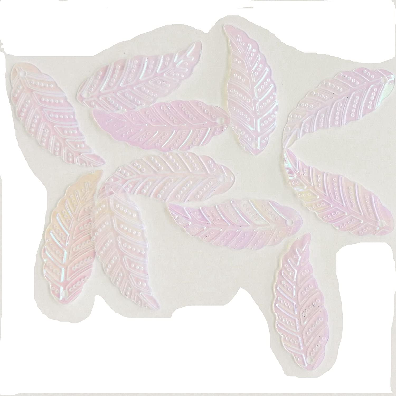 虹色100個リーフLoose Sequins forクリスマスデコレーションSpangles Paillettes DIYスクラップブッククラフトアップリケ装飾0.79インチ   B07FDCVB39