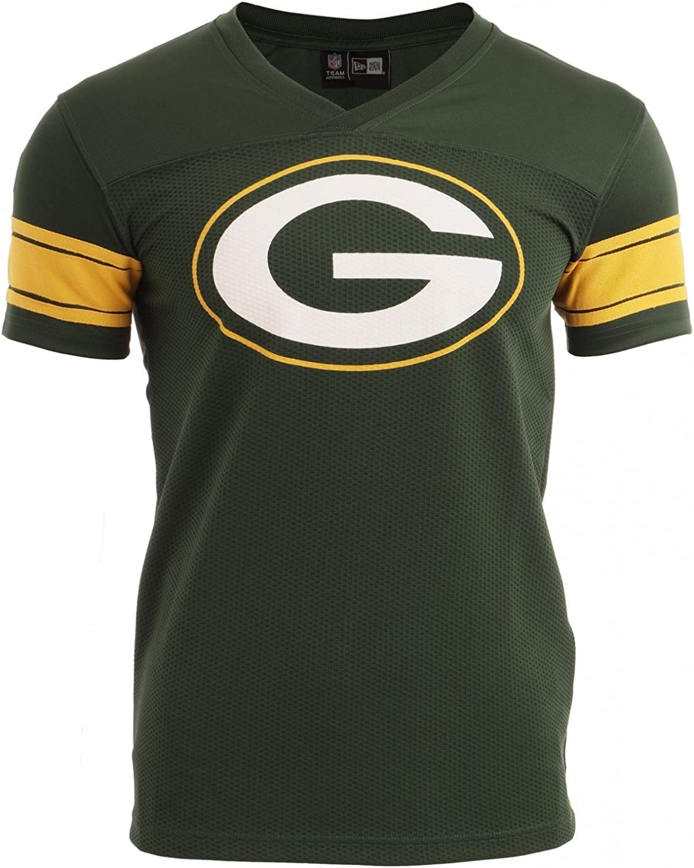 New Era Ne96336fa16 NFL Supprtrs Jrsy Grepac Cig Camiseta Manga Corta-Línea Green Bay Packers, Hombre
