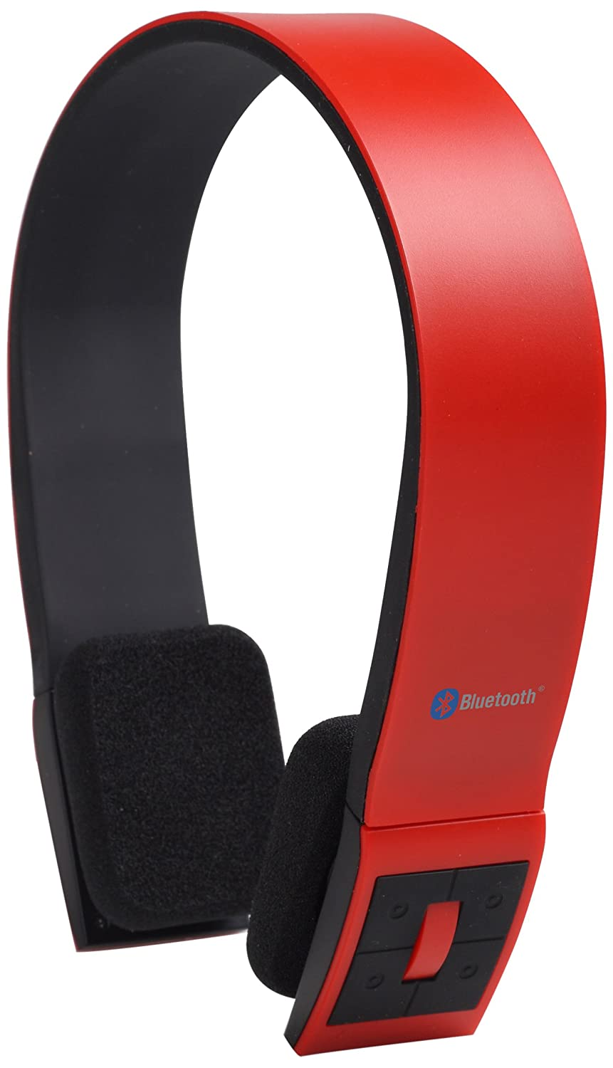AudioSonic HP-1642 - Auriculares de diadema abiertos (Bluetooth, USB), rojo: Amazon.es: Electrónica