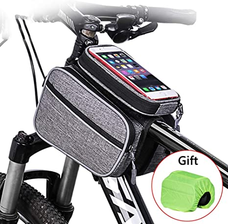 Bolsa Bicicleta Montaña,Bolsa Manillar Bicicleta Gran Capacidad con Pantalla Táctil Sensible,Bolsa Bici con Cubierta de lluvia Resistente al agua,Bike Bag para Bolsa Mtb/Bolsa Bicicleta Carretera: Amazon.es: Deportes y aire libre