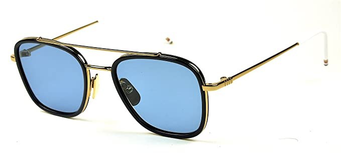 b08a4f50be34 Amazon.com  Thom Browne sunglasses TB 800 Col. B Gold-Navy   Blue ...