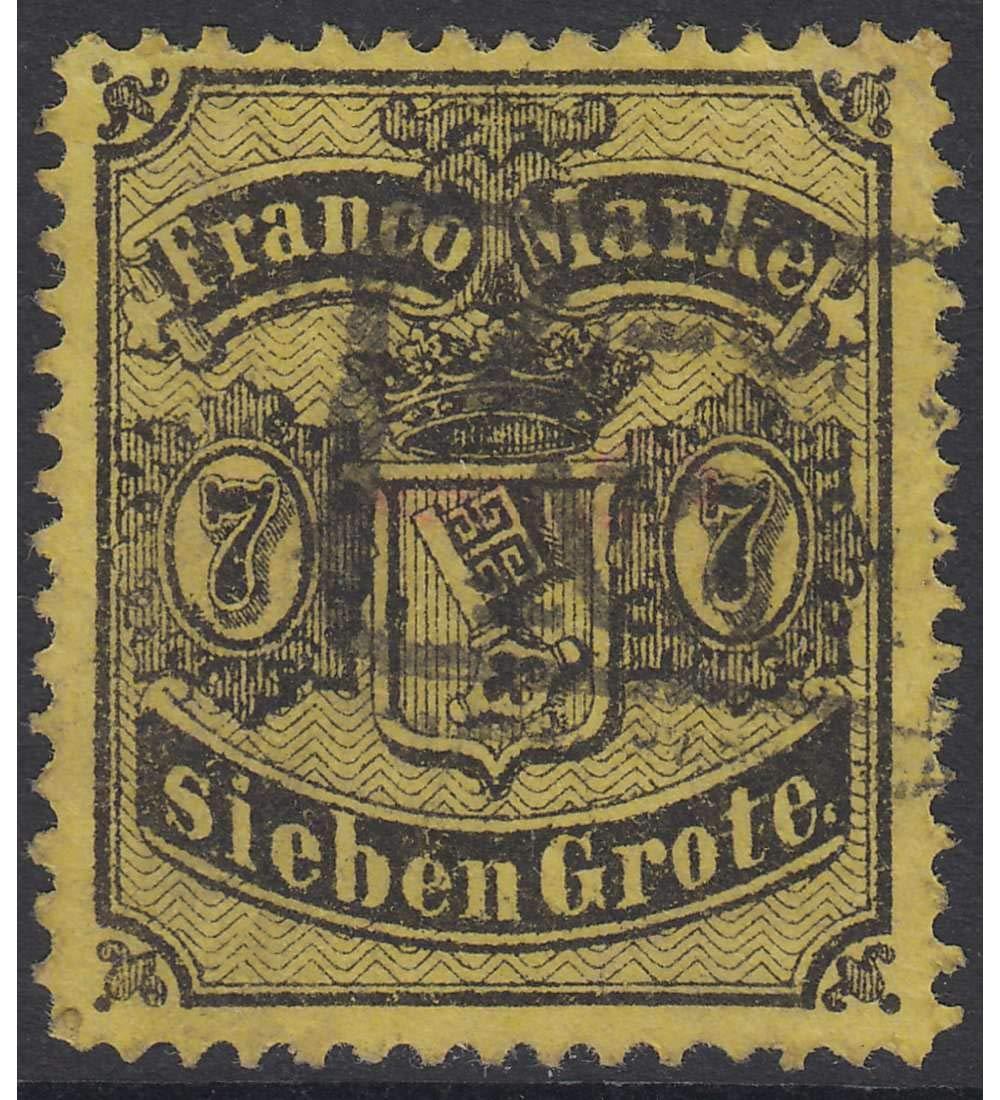Goldhahn Bremen Nr. 13 gestempelt geprüft und signiert Briefmarken für Sammler