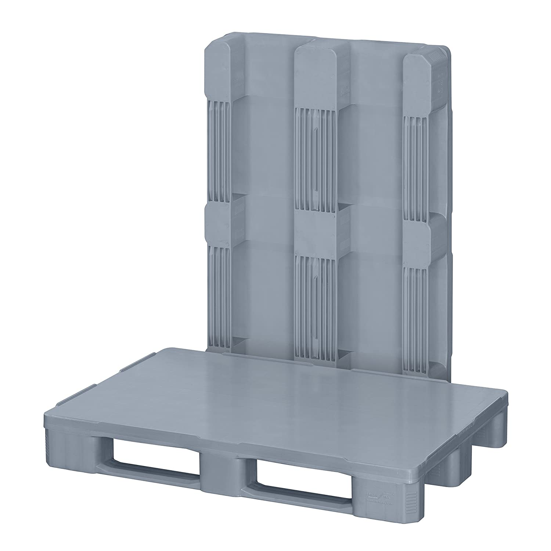 5 x Leichtpalette 1200x800 mm aus HDPE-RE Kunststoff anthrazit//schwarz