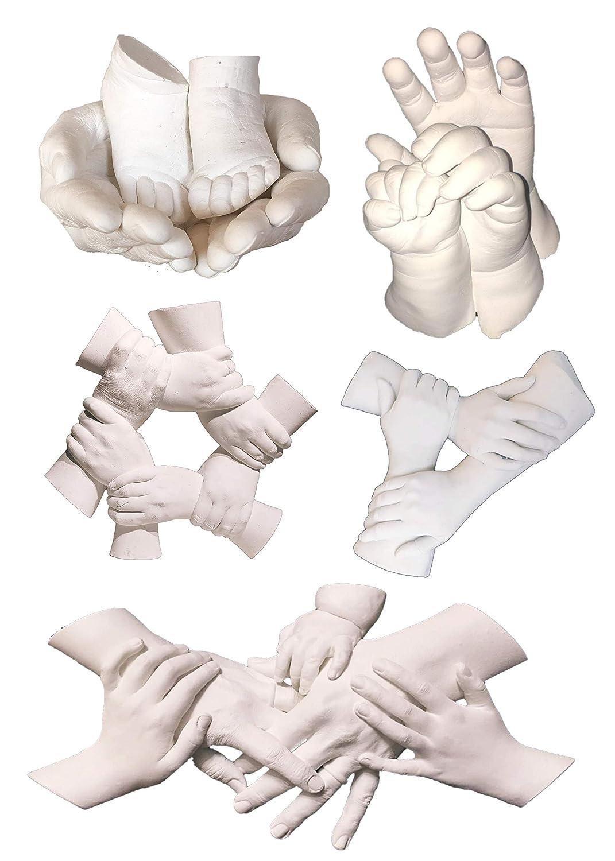 3D Gipsabdruck f/ür die kleine Familie Komplettes Abdruckset Pefekte DIY Geschenkidee f/ür Vatertag oder Muttertag mit Colour Fix Lack /& Bindemittel Abformmasse 4 Minuten Make Make