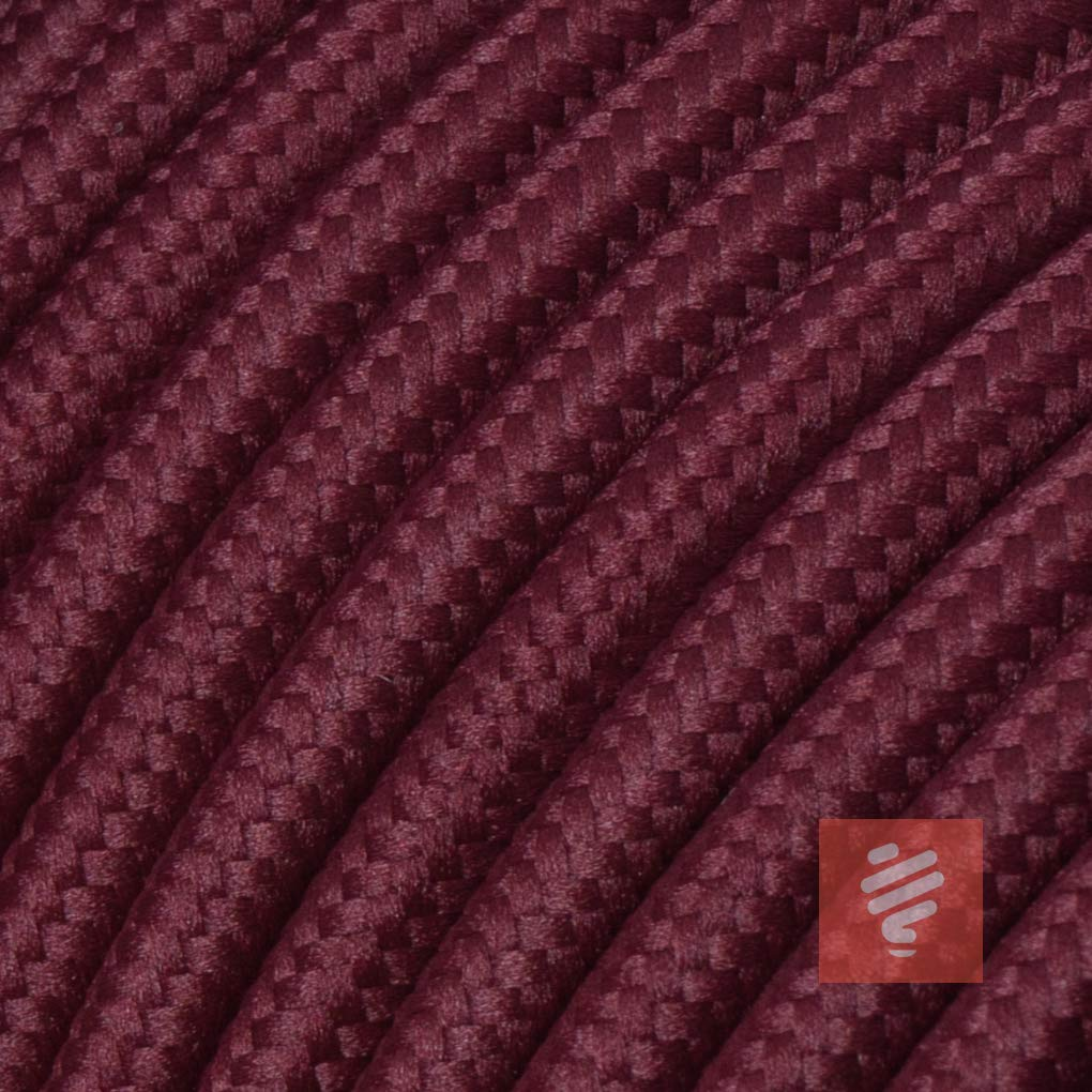 Textilkabel fü r Lampe, Stoffkabel 3-adrig (3x0,75mm² ) * Made in Europe * Schwarz - 5 Meter Lightstock